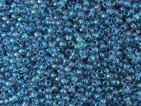 TOHO Round 11o-188 Inside-Color Luster Crystal - Capri Blue Lined - 10 g