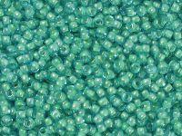 TOHO Round 11o-954 Inside-Color Aqua - Lt Jonquil Lined - 10 g