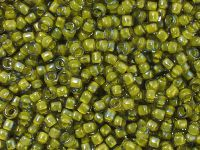 TOHO Round 8o-246 Inside-Color Luster Black Diamond - Opaque Yellow Lined - 10 g