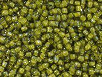 TOHO Round 8o-246 Inside-Color Luster Black Diamond - Opaque Yellow Lined - 10 g