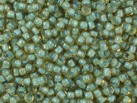 TOHO Round 8o-952 Inside-Color Rainbow Lt Topaz - Sea Foam Lined - 10 g