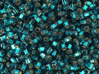 TOHO Cube 3mm-27BD Silver-Lined Teal - 10 g