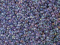 TOHO Round 11o-181 Inside-Color Rainbow Crystal - Tanzanite Lined - 10 g