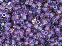 TOHO Cube 3mm-928 Inside-Color Rainbow Rosaline - Opaque Purple Lined - 10 g