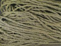 Sznurek skręcany 5 mm oliwkowy - 1 m