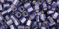 TOHO Cube 3mm-39F Silver-Lined Frosted Lt Tanzanite - 10 g