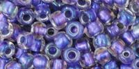 TOHO Round 6o-265 Inside-Color Rainbow Crystal - Metallic Purple Lined - 10 g