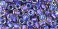 TOHO Round 6o-265 Inside-Color Rainbow Crystal - Metallic Purple Lined - 10 g