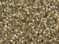 TOHO Round 11o-262 Inside-Color Crystal - Gold Lined - 10 g
