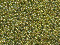 TOHO Round 11o-996 Gold-Lined Rainbow Peridot - 10 g