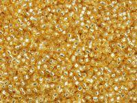 TOHO Round 15o-2110 Silver-Lined Milky Lt Topaz - 5 g