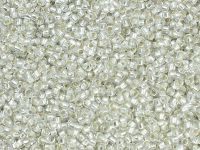 TOHO Round 15o-21F Silver-Lined Frosted Crystal - 5 g