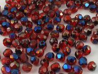 FP 3mm Blue Iris - Siam Ruby - 40 sztuk