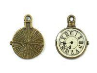 Zawieszka zegarek złoty 23x18 mm - 1 sztuka