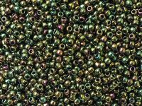 TOHO Round 11o-508 Higher-Metallic Iris Olivine - 10 g