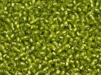 TOHO Round 11o-24F Silver-Lined Frosted Lime Green - 10 g