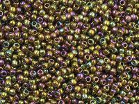 TOHO Round 11o-459 Gold-Lustered Dark Topaz - 10 g