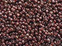 TOHO Round 11o-363 Inside-Color Montana Blue - Oxblood Lined - 10 g