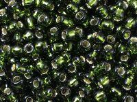 TOHO Round 6o-37 Silver-Lined Olivine - 10 g
