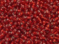 TOHO Round 8o-25C Silver-Lined Ruby - 10 g