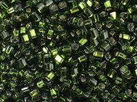 TOHO Cube 3mm-37 Silver-Lined Olivine - 10 g