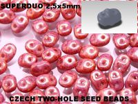 SuperDuo 2.5x5mm Luster - Metallic Pink - 10 g