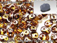 SuperDuo 2.5x5mm Copper - Topaz - 10 g