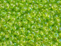 TOHO Magatama 3mm-164 Trans-Rainbow Lime Green - 10 g