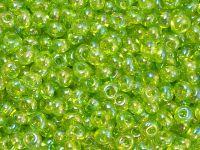 TOHO Magatama 3mm-164 Trans-Rainbow Lime Green - 10 g