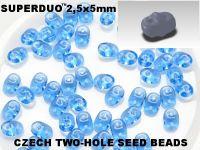 SuperDuo 2.5x5mm Aquamarine - 10 g