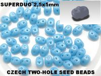 SuperDuo 2.5x5mm Blue Turquoise - 10 g