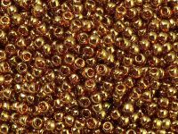 TOHO Round 8o-421 Gold-Lustered Transparent Pink - 10 g