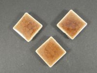 Kaboszon ceramiczny kwadrat cracle brązowy 18x18 mm - 1 sztuka