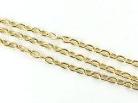 Łańcuch metalowy 7x4 mm kolor jasnozłoty - 20 cm