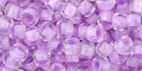 TOHO Round 6o-943 Inside-Color Crystal - Lilac Lined - 10 g