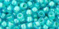 TOHO Round 6o-954 Inside-Color Aqua - Lt Jonquil Lined - 10 g