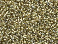 TOHO Round 11o-279 Inside-Color Rainbow Lt Topaz - Gray Lined - 10 g