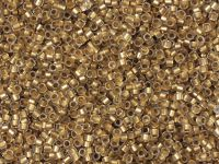 TOHO Treasure 12o-989F Frosted Gold-Lined Crystal - 5 g