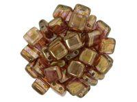 Tile 6mm Luster - Rose - Gold Topaz - 20 sztuk