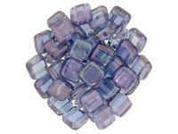 Tile 6mm Luster - Transparent Amethyst - 20 sztuk