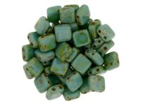 Tile 6mm Opaque Persian Turquoise Picasso - 20 sztuk