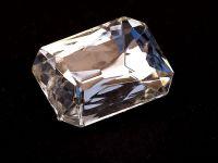 Kryształ fasetowany prostokąt 18x13 mm Crystal F - 1 sztuka