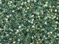 TOHO Cube 1.5mm-990 Gold-Lined Aqua - 5 g
