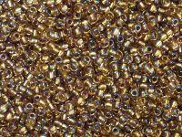 TOHO Round 11o-268 Inside-Color Rainbow Crystal - Gold Lined - 10 g
