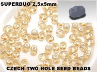 SuperDuo 2.5x5mm Luster - Transparent Champagne - 10 g
