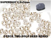 SuperDuo 2.5x5mm Bronze-Lined Crystal - 10 g