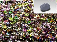 SuperDuo 2.5x5mm Magic Violet - Green - 10 g