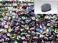 SuperDuo 2.5x5mm Magic Violet - Grey - 10 g