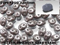 SuperDuo 2.5x5mm Luster - Metallic Grey - 10 g