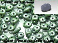 SuperDuo 2.5x5mm Luster - Metallic Green - 10 g